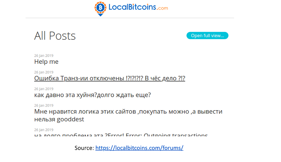 LocalBitcoins Phishing Attack and Cryptopia Hack
