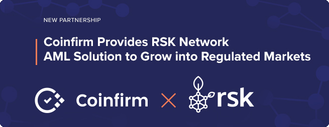 Coinfirm has provided RSK and RIF protocols with an anti-money laundering compliance solution through its proprietary algorithms and data analysis.