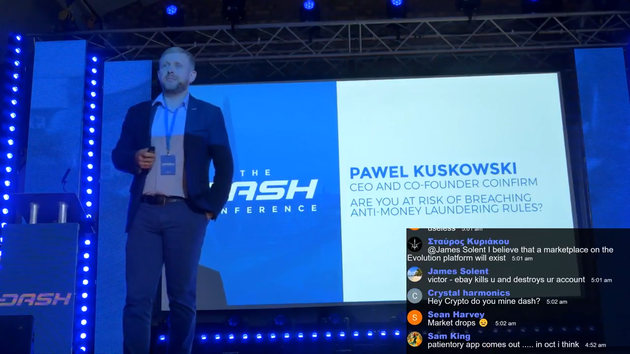 Are You At Risk Of Breaching Anti-Money Laundering Rules - Coinfirm CEO at Dash Conference
