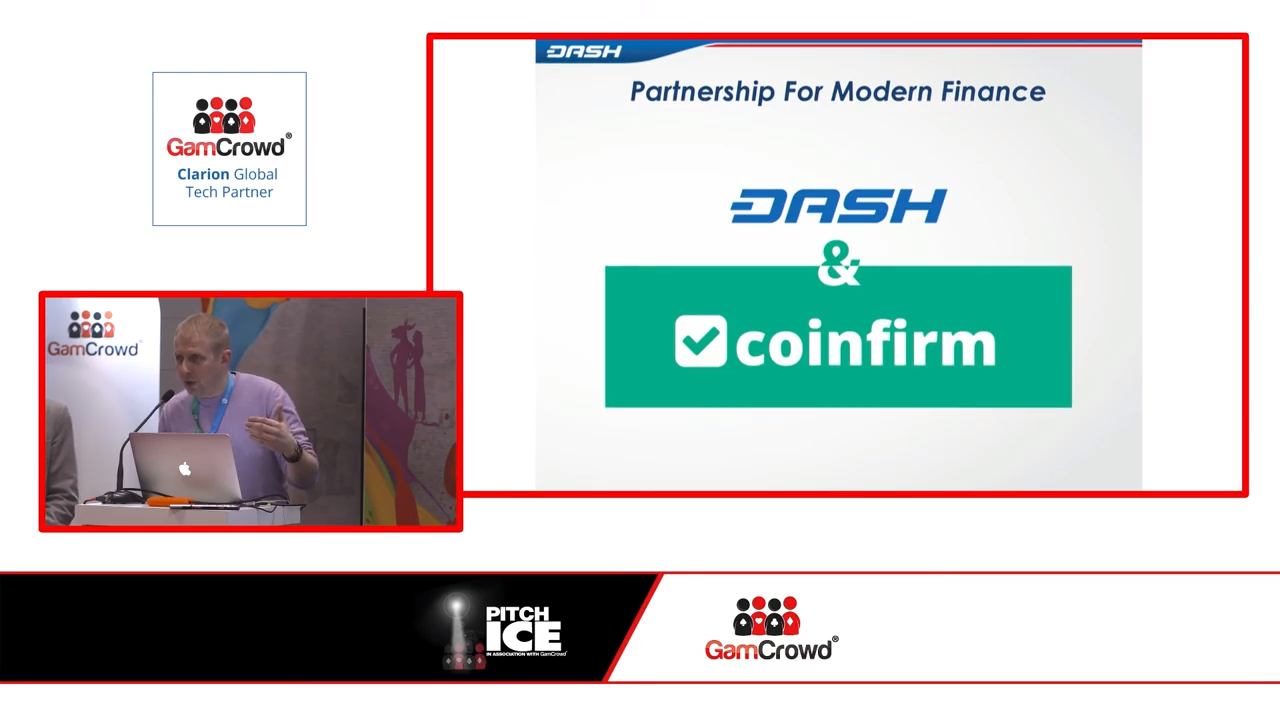 Coinfirm and Dash at ICE
