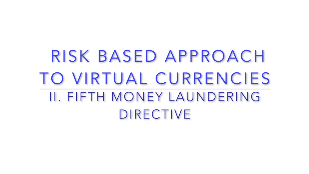 Risk-Based Approach to Virtual Currencies_ 5th AML Directive