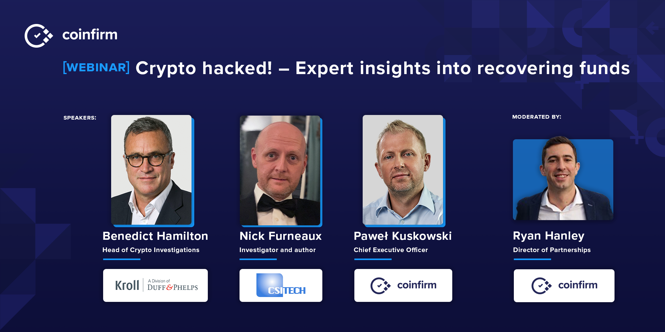 Coinfirm Webinar Crypto Hacked Expert Insights Into Recovering Funds