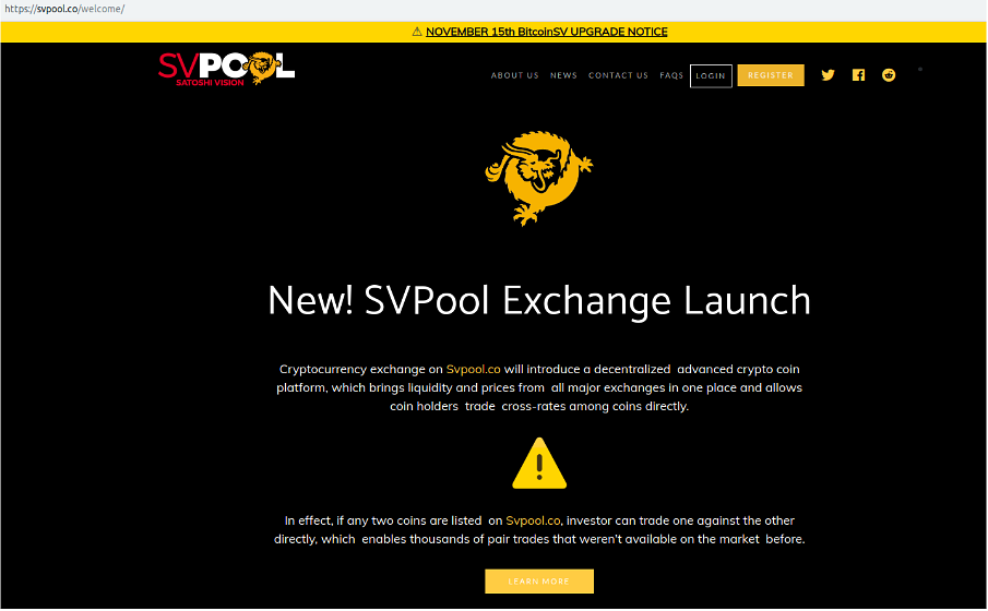 Fake Exchanges and SVPool